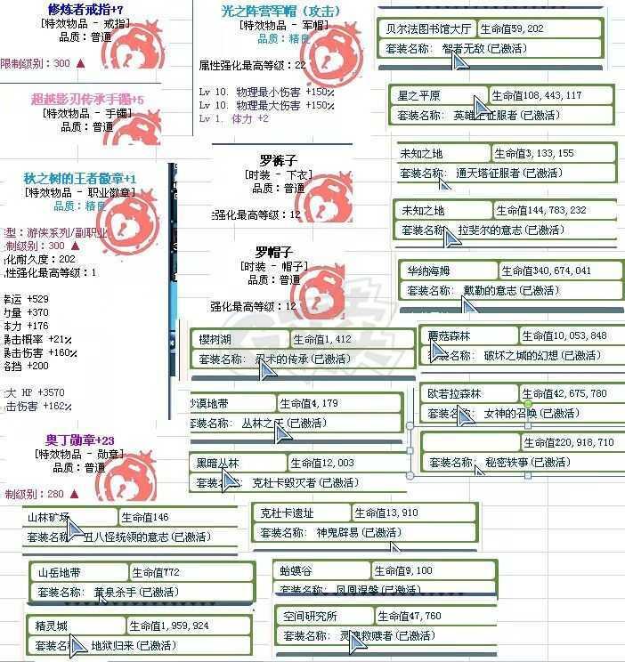 彩虹岛-账号-[刺杀者300级]95s吸血图鉴  4转移